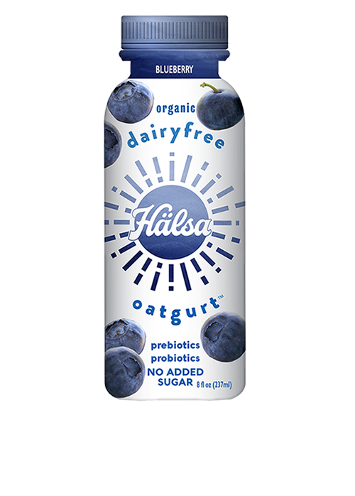 Halsa Organic Blueberry Oatgurt With Probiotics - No Added Sugar