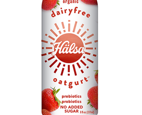 Halsa Organic Strawberry Oatgurt With Probiotics