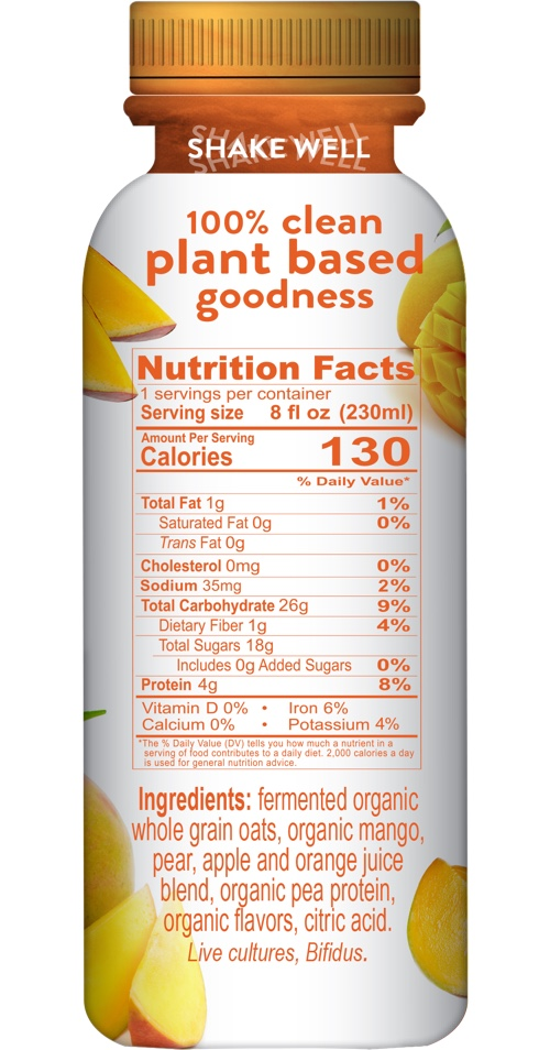 Halsa Mango plant based Nutrition Facts