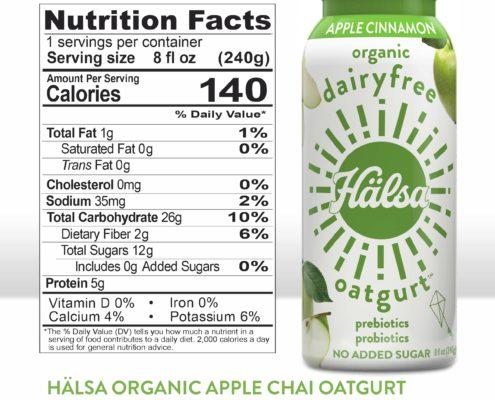Hälsa Dairyfree Apple Cinnamon Oatgurt Nutrition Facts