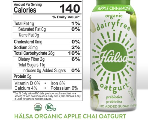 Hälsa Apple Cinnamon Oatgurt_Nutrition Facts & Ingredients