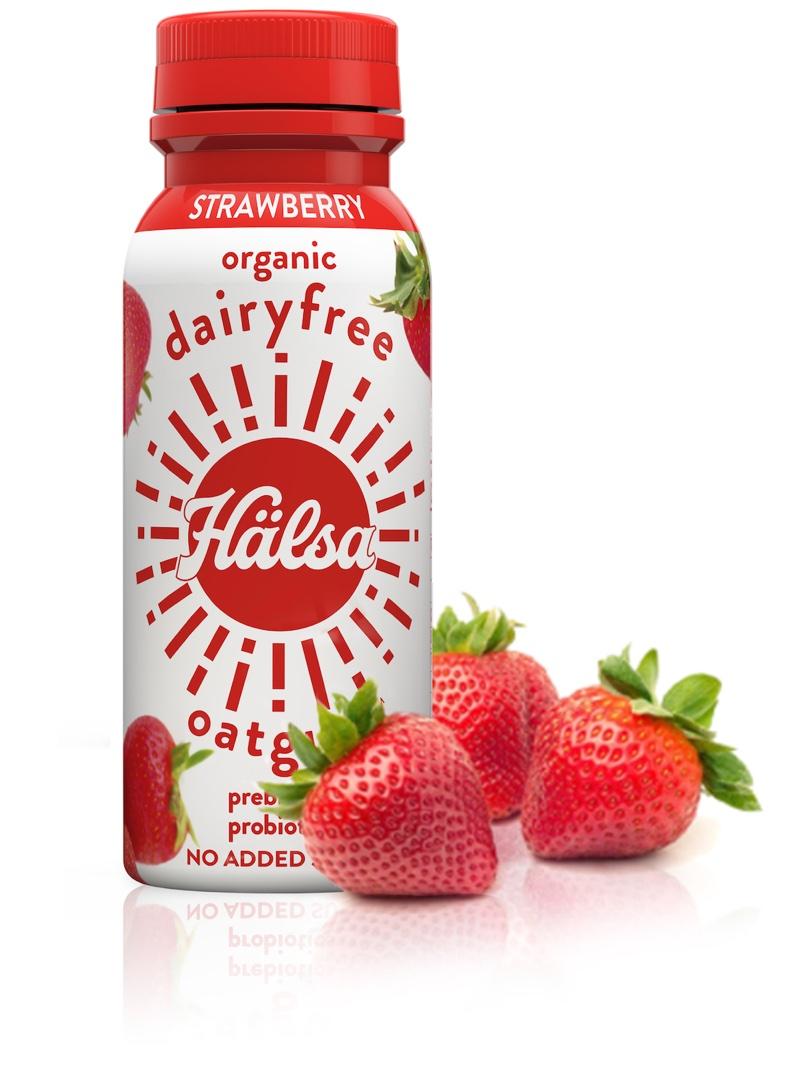 Hälsa Dairyfree Organic Oatgurt Strawberry, oat milk, oat yogurt, oatgurt, organic, halsa, 100% clean