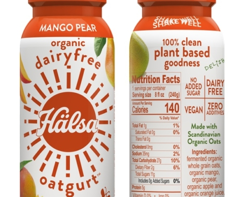 Halsa Organic Mango Oatgurt With Probiotics - No Added Sugar, oat milk, oat yogurt, oatgurt, organic, halsa, 100% clean