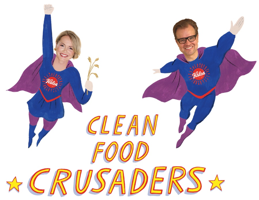Clean food crusaders Helena Lumme & Mika Manninnen Hälsa, oat milk, oat yogurt, oatgurt, organic, halsa, 100% clean