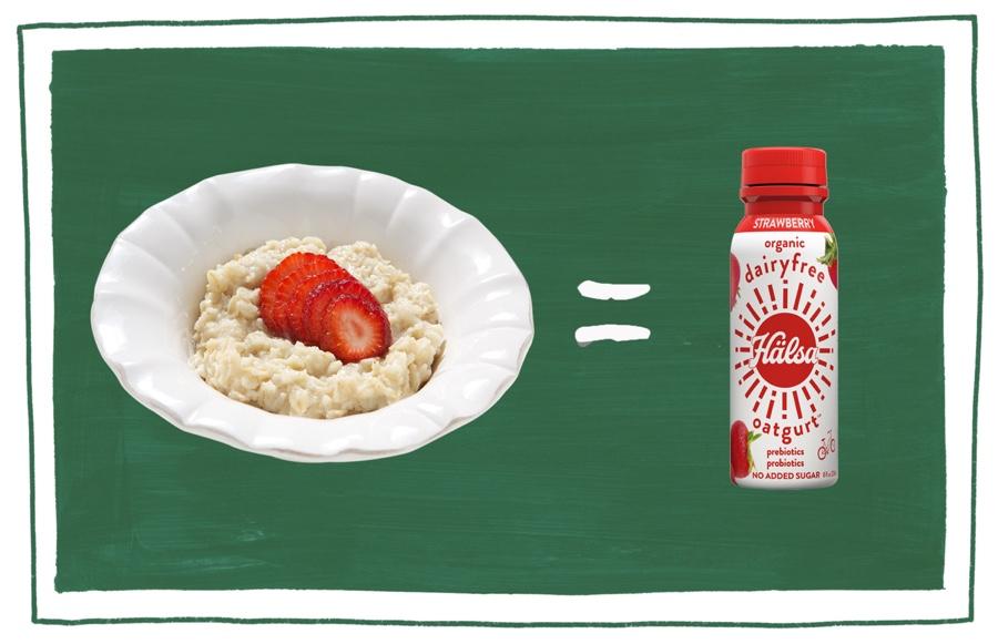 Hälsa strawberry, oat milk, oat yogurt, oatgurt, organic, halsa, 100% clean