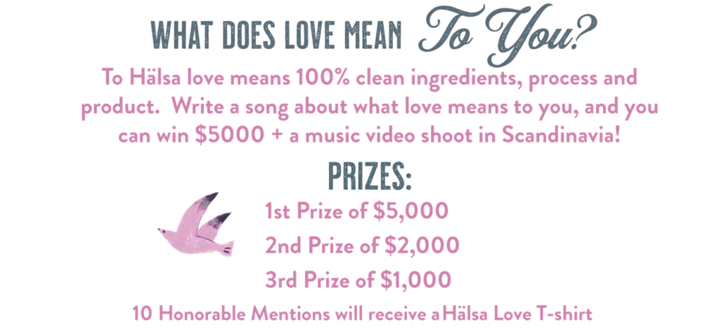 Hälsa song contest what does love mean