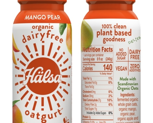 Halsa Organic Mango Oatgurt With Probiotics - No Added Sugar, oat milk, oat yogurt, oatgurt, organic, halsa, 100% clean