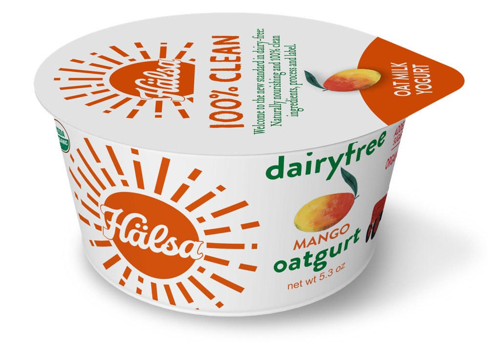 Hälsa Organic Mango Oatmilk Yogurt - No Added Sugar, oat milk, oat yogurt, oatgurt, organic, halsa, 100% clean
