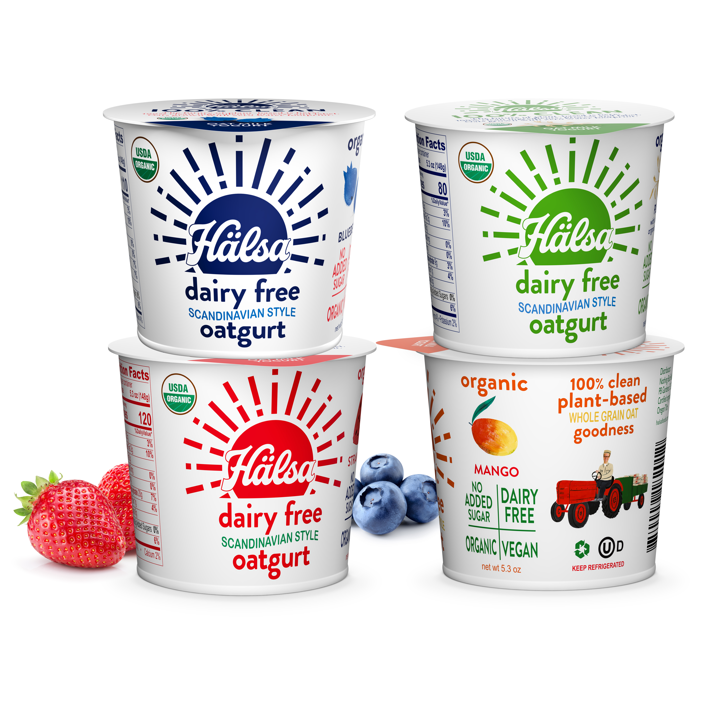 Hälsa Organic Oatgurt Family - No Added Sugar, oat milk, oat yogurt, oatgurt, organic, halsa, 100% clean