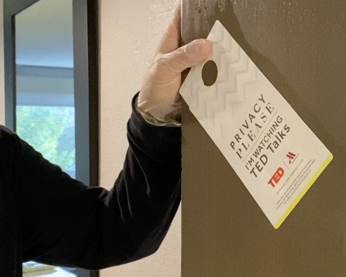 Remember to also wipe the privacy sign.