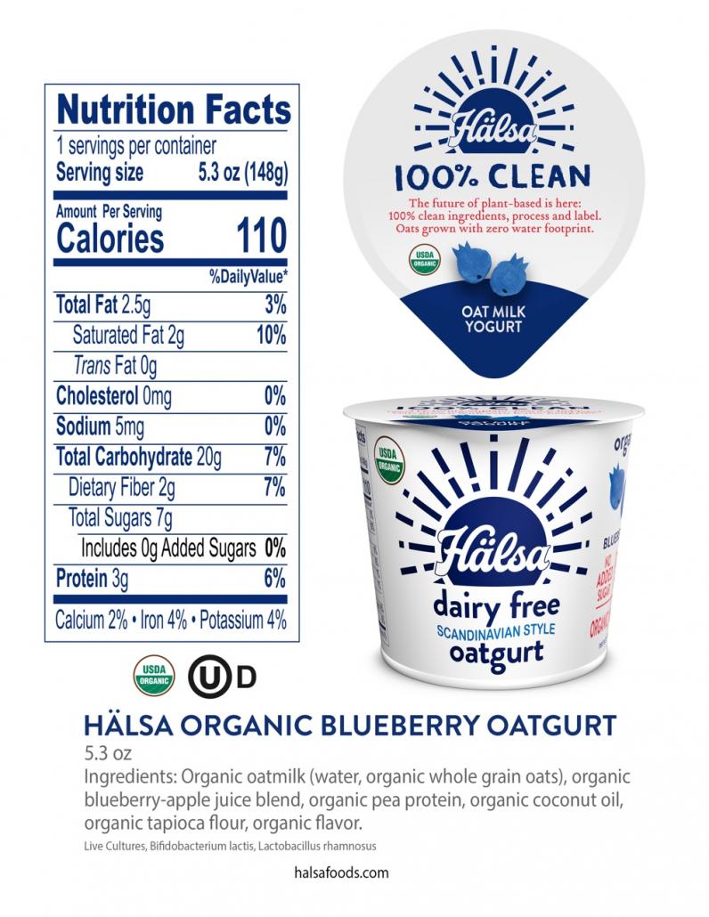 Nutrition Hälsa Organic Blueberry Oatmilk Yogurt 5.3 oz